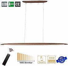 ZXM Modern LED Hanging Lamp Made of Wood Pendant