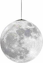 ZXM Pendant Lamp LED Moon Hanging Lamp 3D Printing