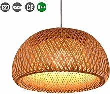 ZXM Vintage Bamboo Pendant Lamp E27 Country Garden