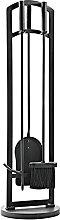 ZXXL 4-Piece Fireplace Tool Set, Wrought Iron Fire