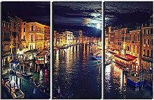 ZXYJJBCL Beautiful City Landscape Triptych Canvas