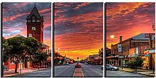 ZXYJJBCL Beautiful Sunset Triptych Canvas Print