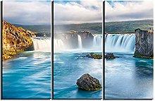 ZXYJJBCL Beautiful Waterfall Landscape Triptych