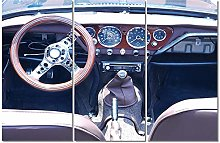 ZXYJJBCL Car Driving Dashboard Triptych Canvas