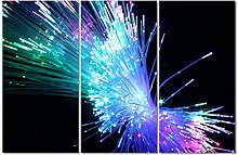 ZXYJJBCL Colored Lights Triptych Canvas Print Wall
