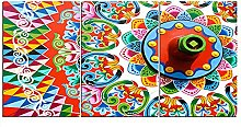 ZXYJJBCL Colored Totem Triptych Canvas Print Wall