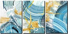 ZXYJJBCL Creative Oil Painting Triptych Canvas