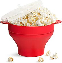zxz Popcorn Maker, with Lid and Handles Silicone