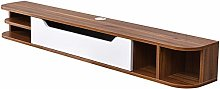 ZY-XSP Solid Wood Wall-Mounted TV Cabinet Rack,