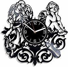 ZYBBYW Angel Record Wall Clock Modern Angel Gift