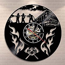 ZYBBYW Firefighter Fighting Vinyl Record Wall