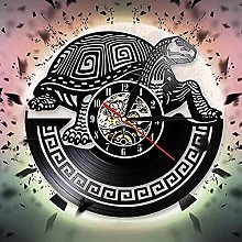 ZYBBYW Tortoise vinyl record wall clock punk wall
