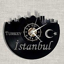 ZYBBYW Vinyl Turkish Vinyl Record Wall Clock Art