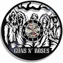 ZYBBYW Vinyl Wall Clock-Rock Band Wall Clock-Retro
