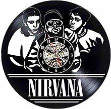 ZYBBYW Vinyl Wall Clock-Rock Couple Wall