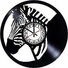 ZYBBYW Zebra Africa Vintage Vinyl Record Wall