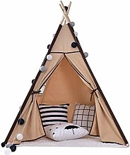 ZYCH Castle Teepee Tent for Kids Foldable Children