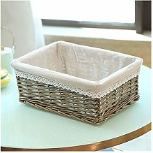 ZYFWBDZ 4 Sizes Handmade Rattan Storage Baskets