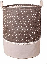 ZYFWBDZ Cotton linen Fabric Collapsible storage