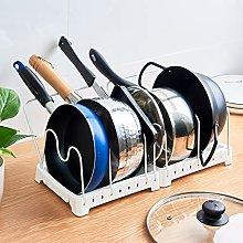 ZYFXZ 5 Djustable Pots And Pans Lid Rack