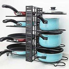 ZYFXZ Adjustable Pot And Pan Rack, Kitchen Pot Lid