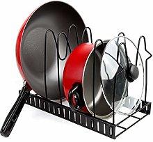 ZYFXZ Metal Pot Rack Organizer, Kitchen Cabinet