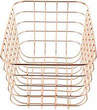 Zyifan Metal Mesh Wall Basket Wall Shelf Basket