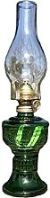 ZYJTGH Buddha Glass Kerosene Oil Lamp