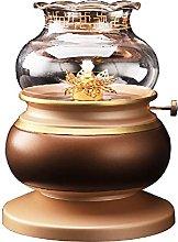 ZYJTGH Buddha Pure Copper for Liquid Butter Lamp