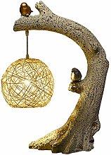 ZYLBDNB Modern Nightstand Desk Lamp Birds Homing