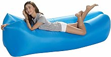ZYLE Blue Inflatable Sofa Bag Portable Lazy Couch