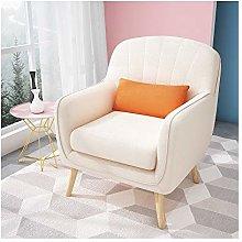 ZYLE Lazy Chair Solid Wood Sofa Single Fabric Sofa