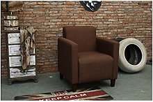 ZYLE Solid Wood Single Fabric Sofa Lazy Sofa