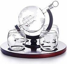 ZYLZL Barware Decanter Set, with Engraved World