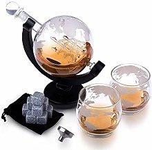 ZYLZL Barware Glass Whisky Decanter Set - 1000Ml