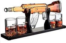 ZYLZL Barware Gun Decanter Set, 1000Ml Elegant