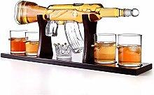ZYLZL Barware Gun Shaped Glass Whiskey Decanter