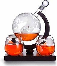 ZYLZL Barware Whiskey Decanter Globe Set, Whiskey