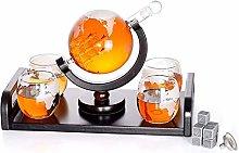 ZYLZL Barware Whiskey Decanter Globe Set with 4