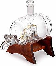 ZYLZL Barware Whiskey Decanter Set Wooden Frame