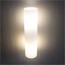 ZYLZL Frosted Glass Cylinder Lampshade Wall Light