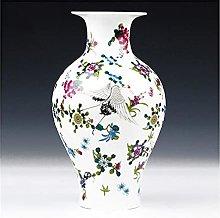ZYLZL Luminous Vase with Flowers and Bird Patterns