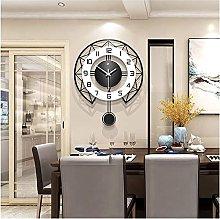 ZYLZL Metal Large Decorative Wall Clocks Silent