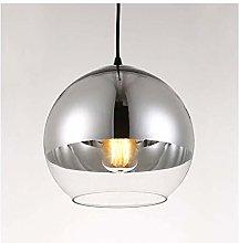 ZYLZL Pendant Light Modern Plating Ball Glass E27