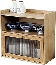 ZYR Bamboo Small Cabinet Table Storage Box Kitchen