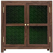 ZYR Black Walnut Small Cabinet Pantry Storage