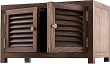 ZYR Black Walnut Wooden Cabinets Desktop Storage