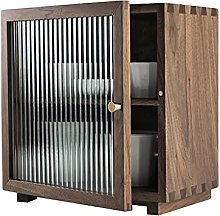 ZYR Black Walnut Wooden Small Cabinet, Double
