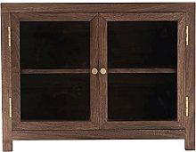 ZYR Countertop Storage Cabinet Black Walnut Wood
