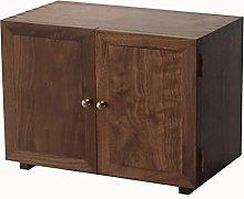ZYR Desktop Storage Cabinet Black Walnut Pantry